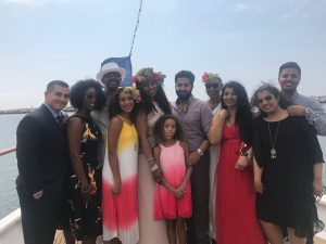 photo of the Arshad and Young families on the wedding day.