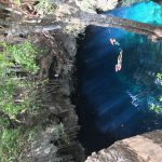 photo of the view before jumping into a cenote in Mexico.