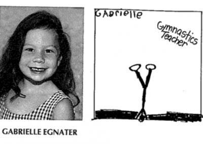 Gabrielle in Kindergarten 2001-2002