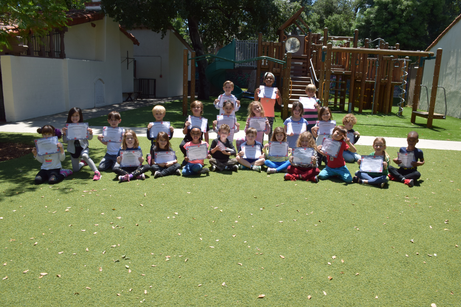 Photo: Kindergarteners with their Service Awards.
