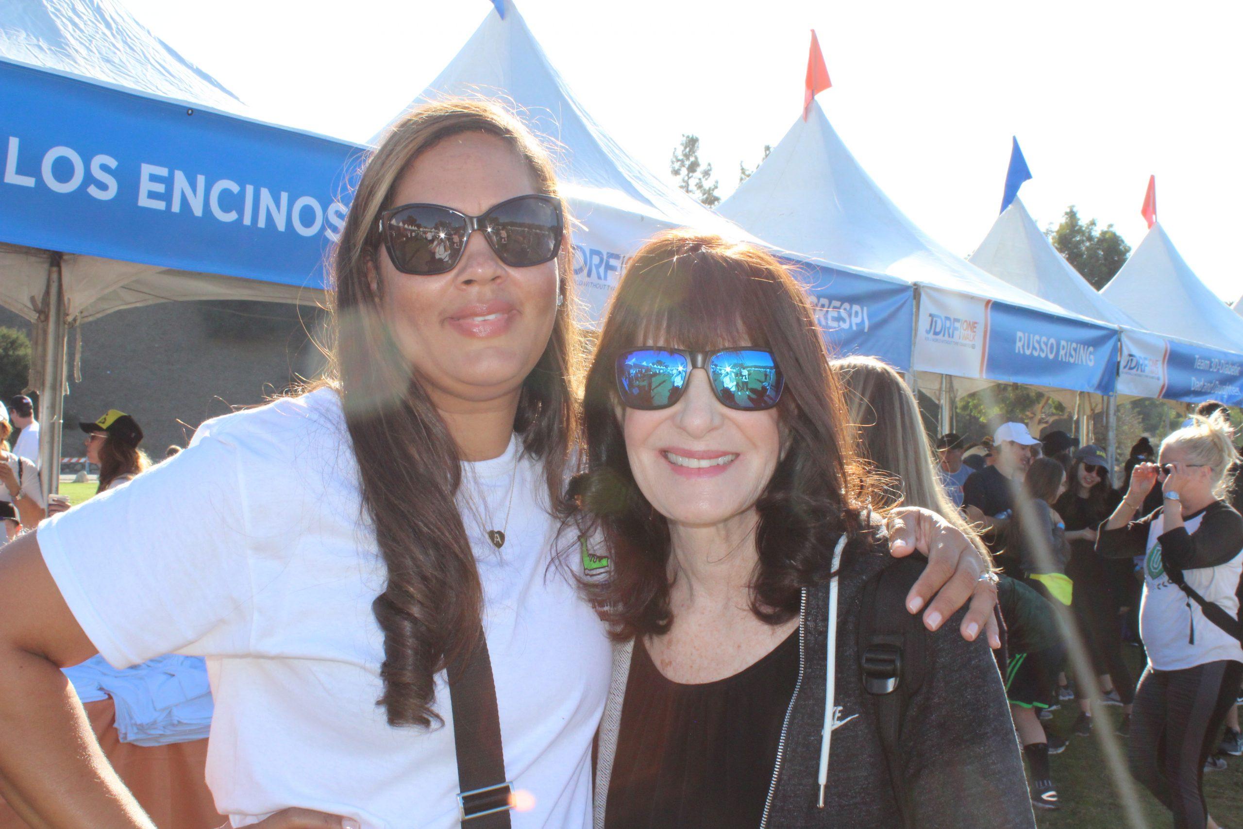 Photo: Angie Platt and Dr. Francine Kaufman
