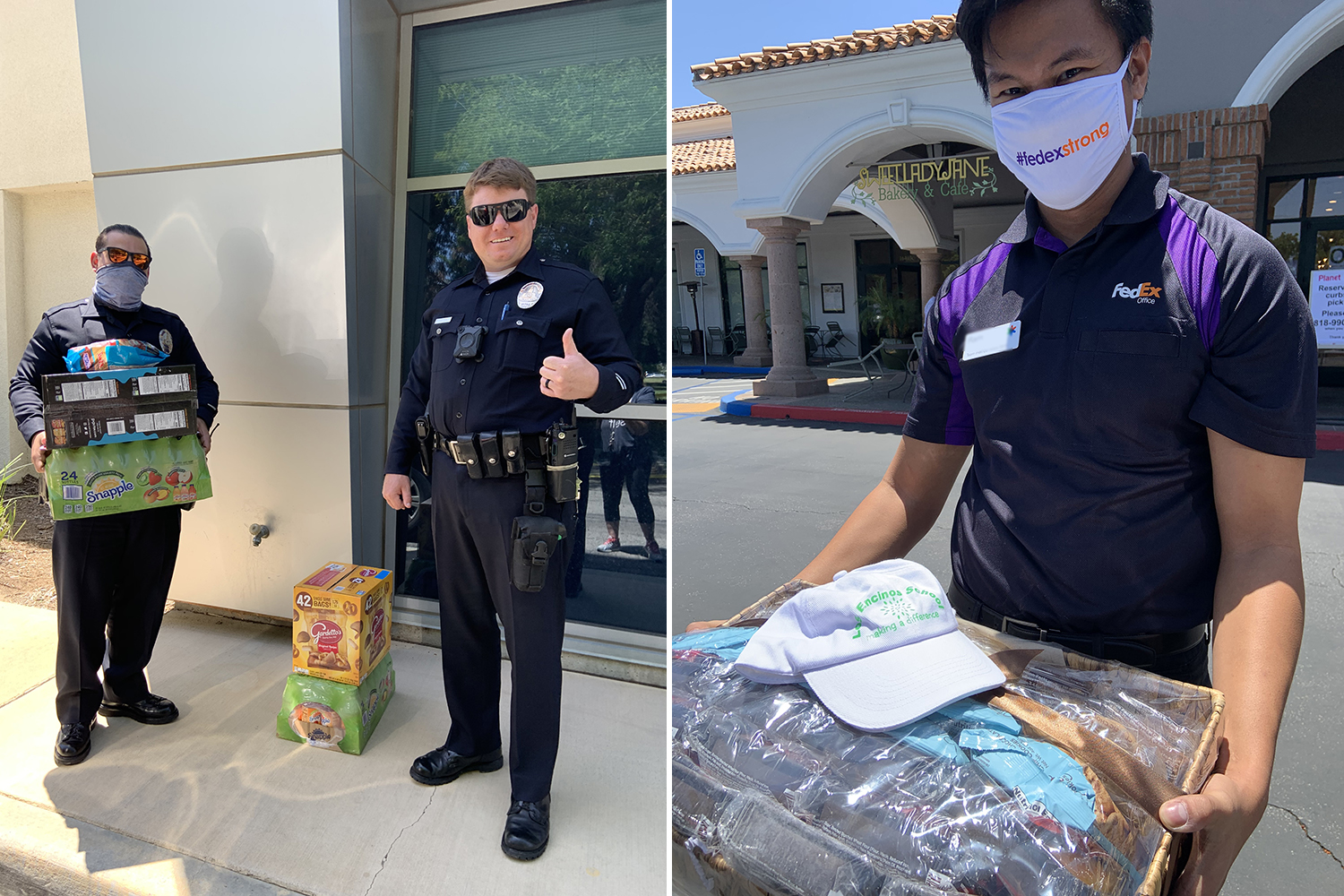 Police and shipping personnel appreciate the goodies!