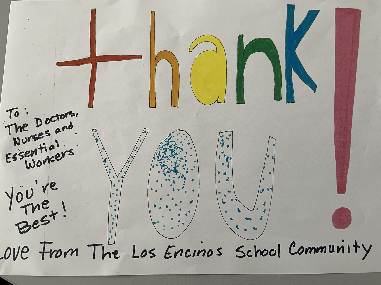 Photo: Thank You Essential Workers poster