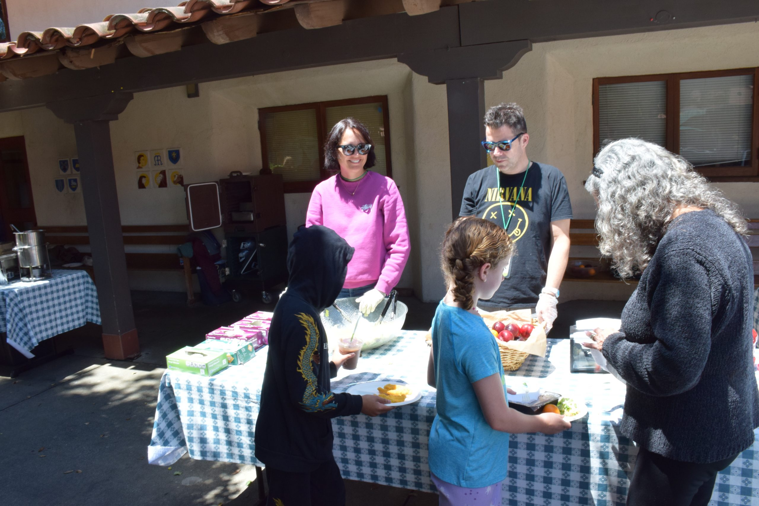 Helping to serve lunch is one of the most popular volunteer opportunities.