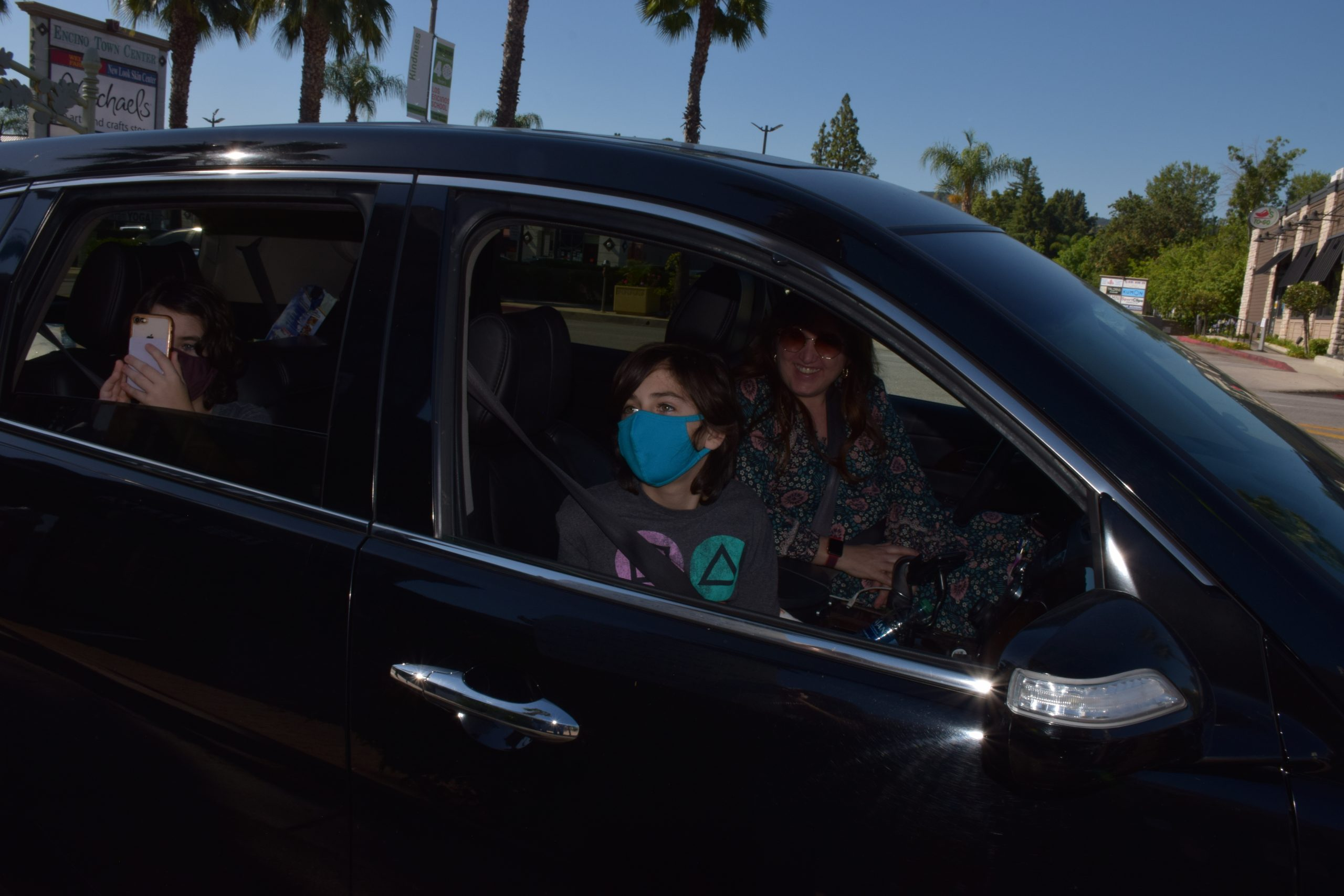 Photo: Rita and family are spotted at the scavenger hunt.