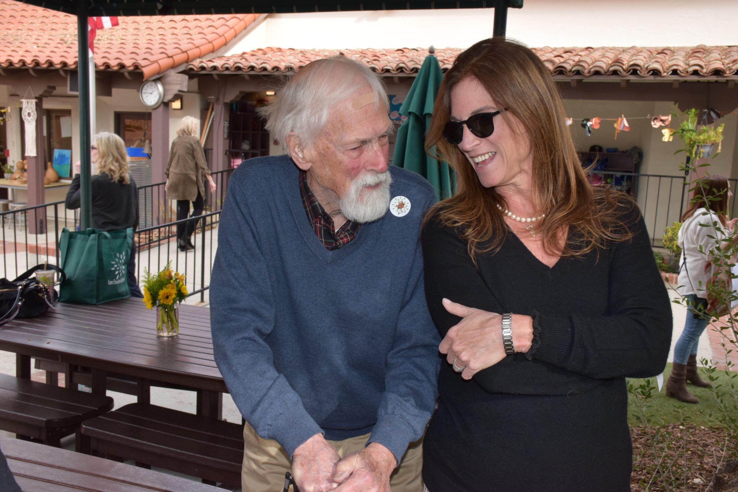 Photo: Chris Holabird and Ilene Reinfeld share a laugh on Thanksgiving.
