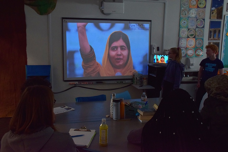 Malala inspires the students.