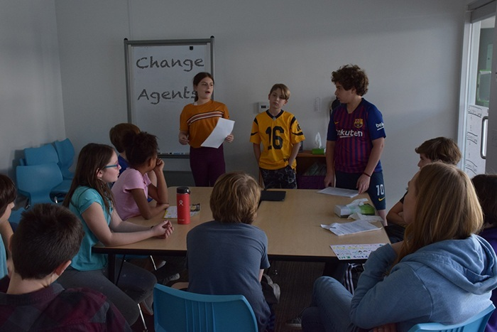 Students teach each other to be change agents.