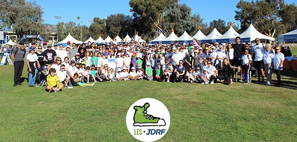 LES Walks the Talk at the JDRF One Walk